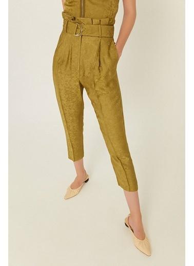 Rue Kuşaklı Ve Dokulu Pantolon Yeşil